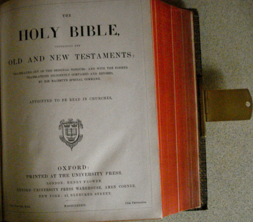 The Holy Bible Begins with the Old Testament