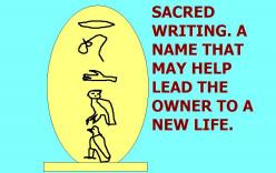 Sacred writing.