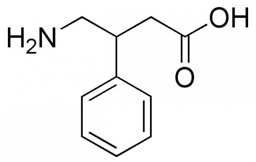 Phenibut chemical structure.