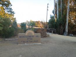 Montgomery Hill Park in San Jose CA - Entrance on Falls Creek Drive