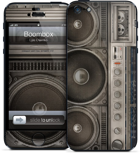 An iPhone 5 case apt for music lovers