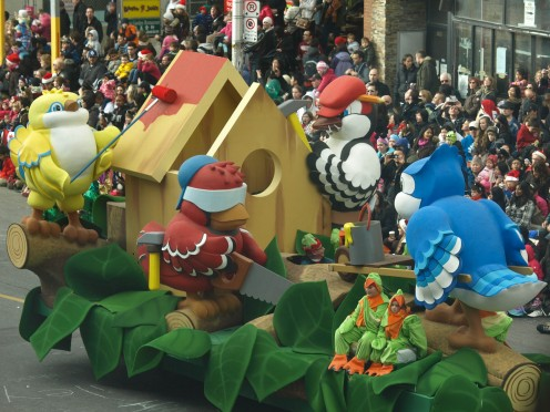 Rona Hardware Float , photo by Keith Schengili-Roberts - The Toronto Santa Claus Parade - 2011