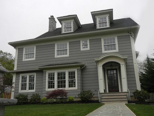Single-family homes range from large two-story to modest single story construction.