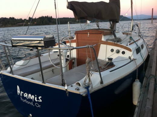 My Newport 27 Aramis that I call home.