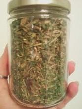 A herbal tea mixture.