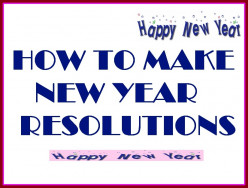 How To Make New Year's Resolutions