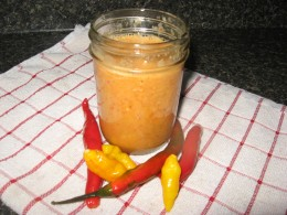 Sweet Pepper Sauce - with heat. Awesome!