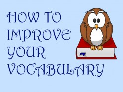 Learning To Improve Your Vocabulary