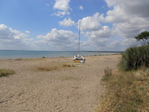 The beach at West Mersea