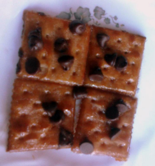 Chocolate Chip Crackers - 15 minute after school snack.
