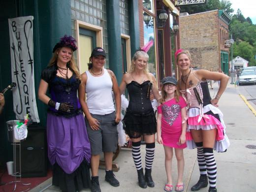 Burlesque girls in Deadwood and my daughters.