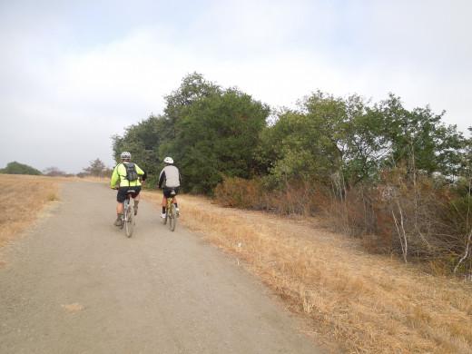 People Biking in Montgomery Hill Park San Jose CA