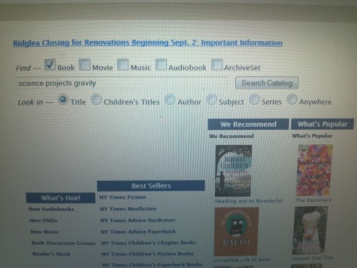 Photograph of Fort Worth Library catalog page on September 16, 2012