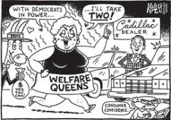 """I do not own this image.  It was obtained through a Google search using the key words """"Welfare Queen."""""""