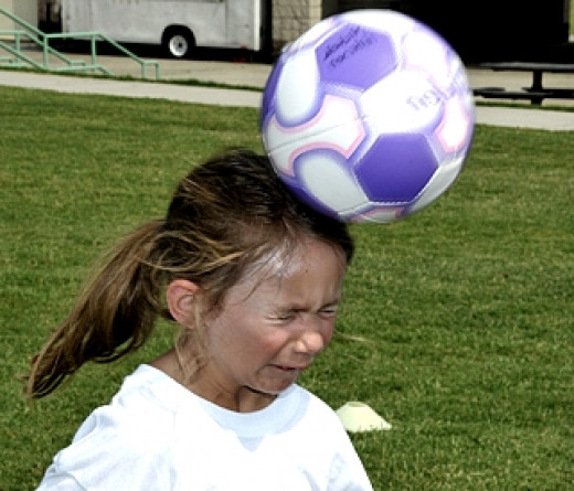 Heading a soccer ball can cause injuries to the brain especially when it is done incorrectly by children.