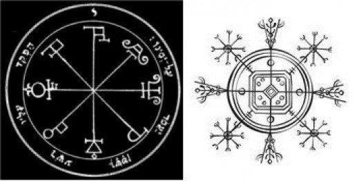 COMPARE KEY OF SOLOMON WITH THE HULINHJÁLMUR