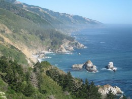 Along the central California coastline. Just gorgeous, breathtaking views!