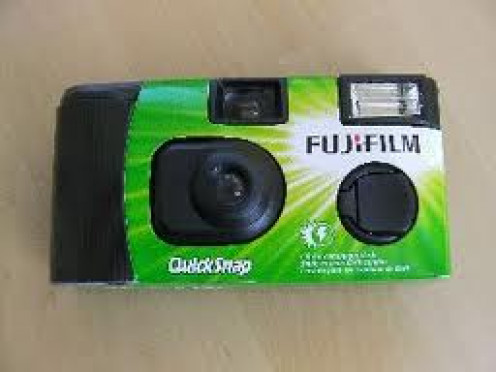 Disposable Cameras are very handy for vacation trips. Take the pictures and throw the camera in the trash.
