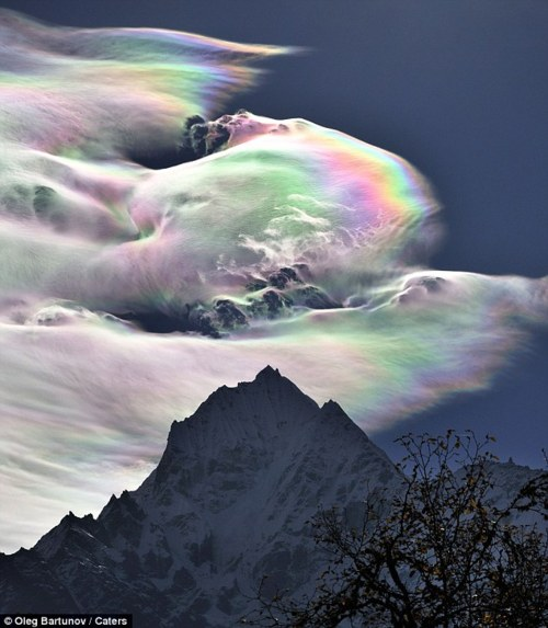 Rainbow clouds over Mt Everest