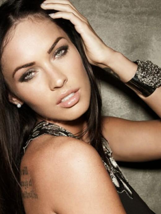 Megan Fox with her trademark HD eyebrows