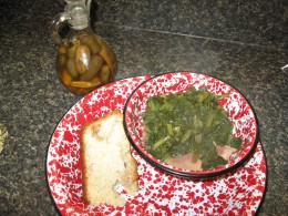 greens and cornbread
