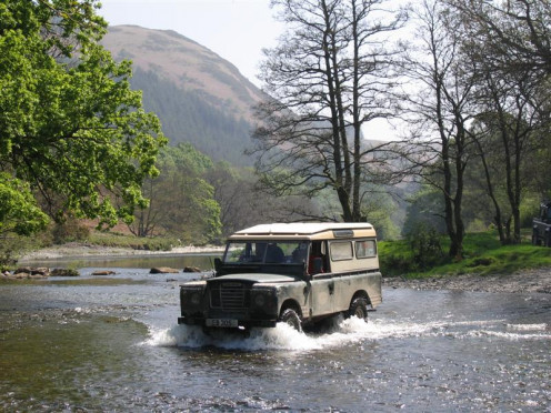 Land Rover Series III in its natural habitat
