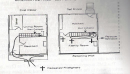 The bodies were found in these positions. Notice how one was only a few feet from the window.
