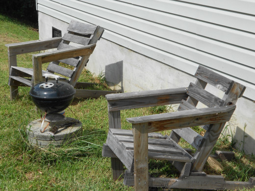 Pallets Make Really Good Adirondack Style Chairs.  I Made These Chairs Two Years Ago And Still Get Great Use Out Of Them.