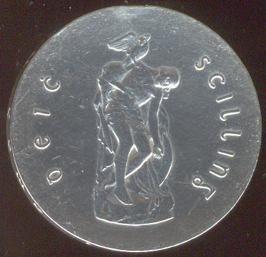 Cu Chúlainn on an Irish ten shilling coin