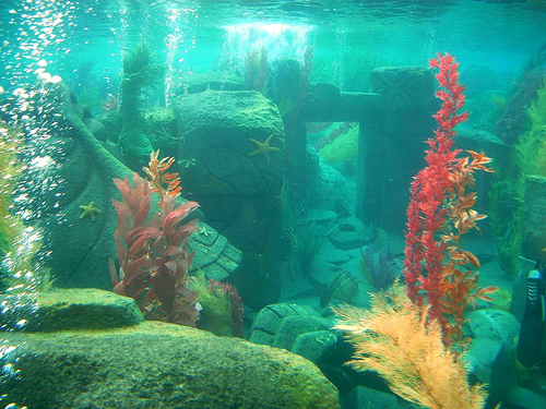 Rendering of the remains of Atlantis as imagined by a theme park.