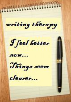 writing is a form of therapy