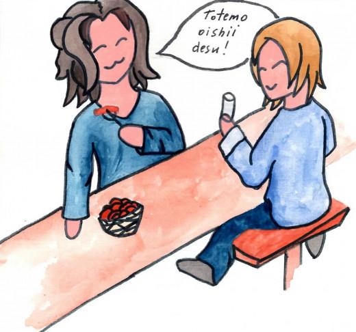 It's really delicious! - Totemo oishii desu!