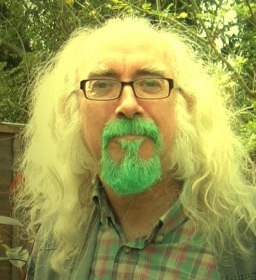 Steve Andrews, the Bard of Ely, looking very green.