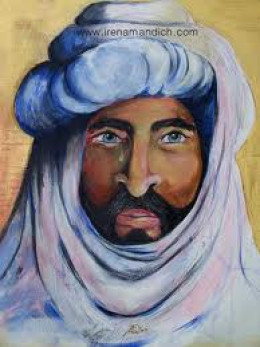 PORTRAIT OF MOHAMMED BY ARTIST IRENA MANDICH