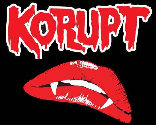 Korupt band Logo and Lips.
