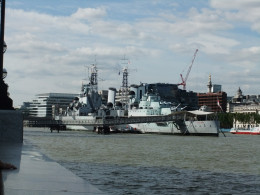 The HMS Belfast - not a great photo but it was very hard to get a good shot without taking it from quite far away!