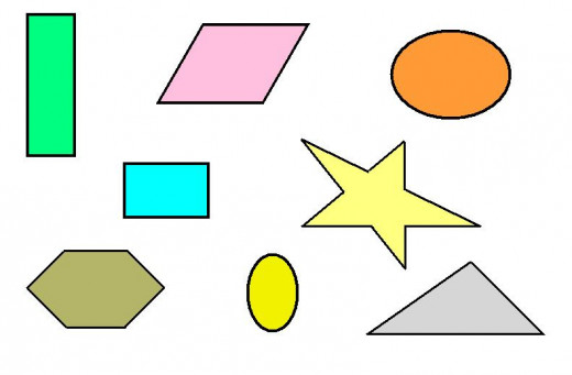 Regular shapes, also called Geometric shapes
