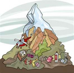 Mountains of trash tossed into huge landfills make up the bulk of the world's land pollution.