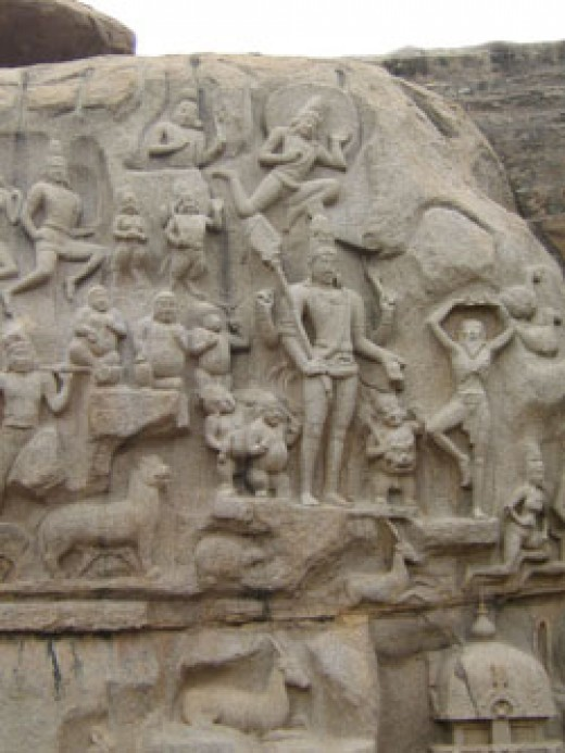 2. Story depicting Arjuna Thapas or Bhaheeratha Tapas
