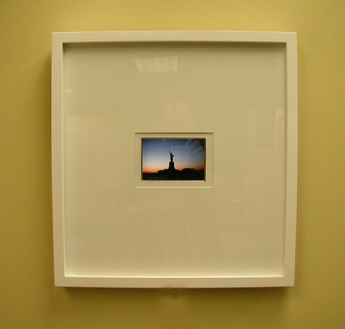 Sometimes a small image in a large frame makes big impact.