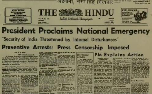 PRESS CENSORSHIP IN INDIA