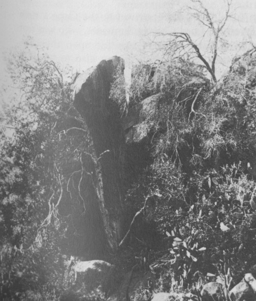 The rocky outcrop in which Bezuidenhout holed up and where he was shot