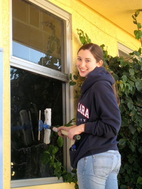 There's nothing like good old elbow grease to make those windows shine!