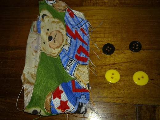 teddy bear fabric and buttons