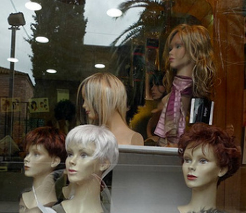 Wigs are an inexpensive alternative to hair replacement procedures.