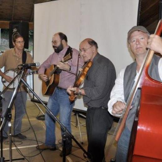 Gary Ballard and The Cabin Creek Revue play tunes kick off dance to Barnabas week at Camp Tekoa.