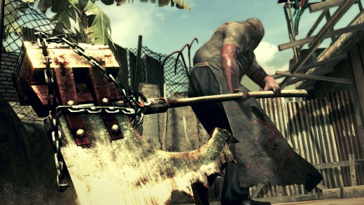 Screen shot of the Executioner from Resident Evil 5