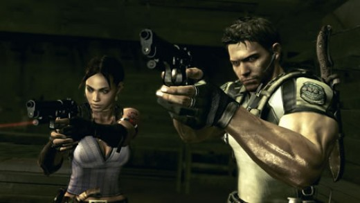 Screen shot of Chris and Sheva in Resident Evil 5