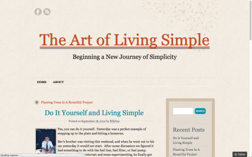 The Art of Living Simple Landing Page
