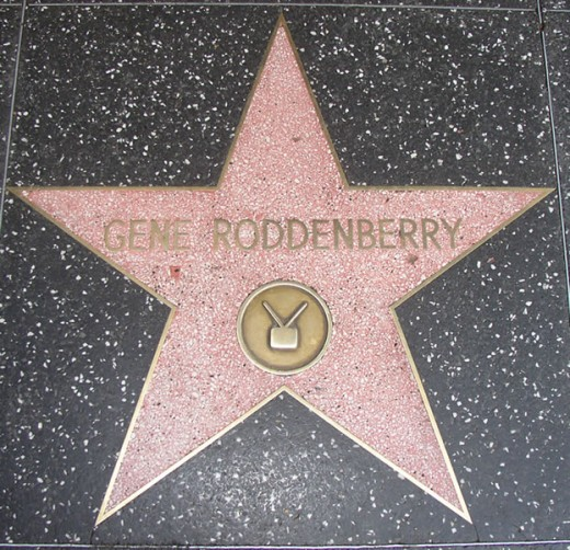 Gene Roddenberry - star on the Hollywood Walk of Fame